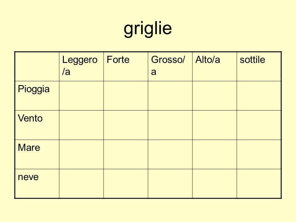 griglie Leggero /a ForteGrosso/ a Alto/asottile Pioggia Vento Mare neve