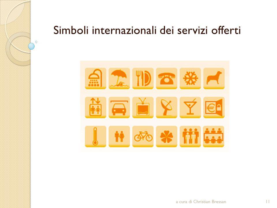 Simboli internazionali dei servizi offerti 11a cura di Christian Bressan