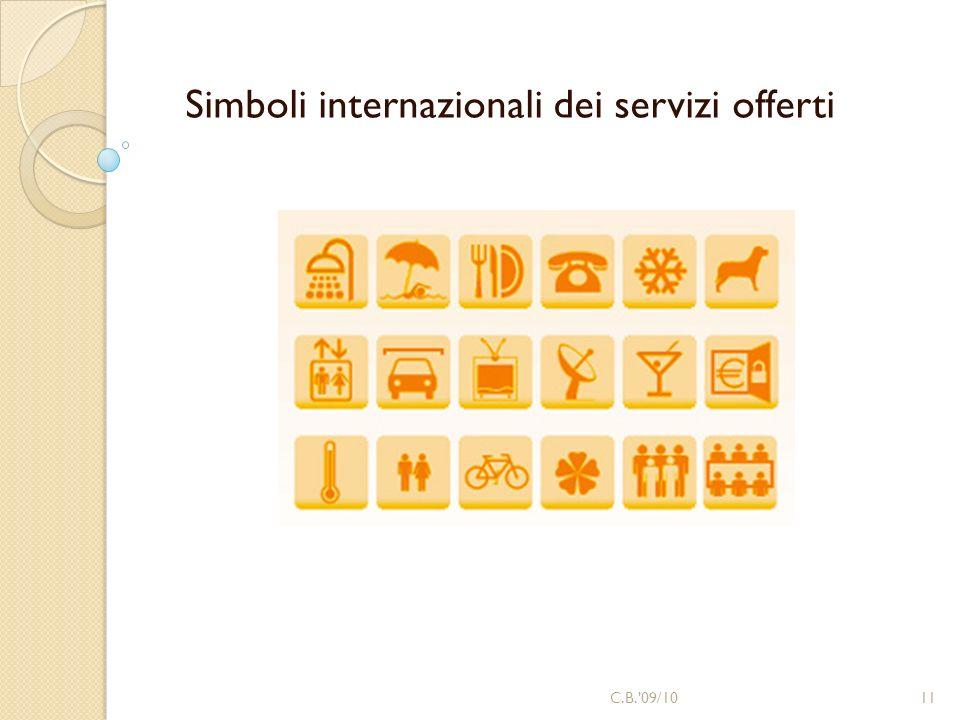 Simboli internazionali dei servizi offerti 11C.B.'09/10