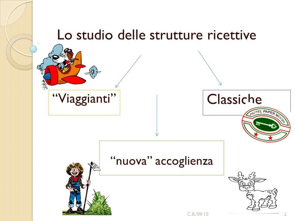Classiche Lo studio delle strutture ricettive nuova accoglienza 2C.B.'09/10 Viaggianti