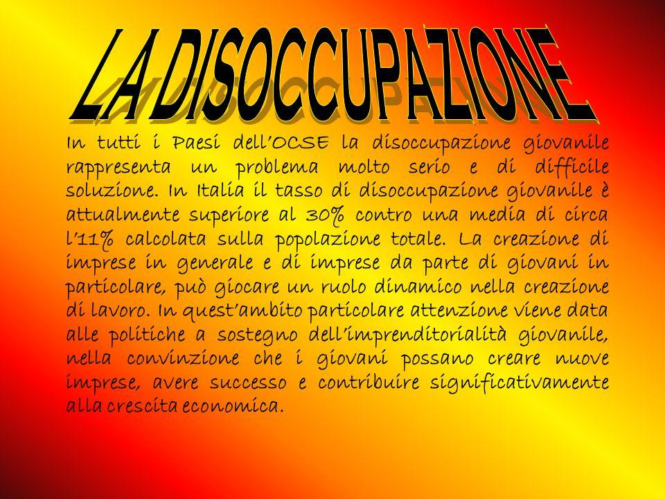 In tutti i Paesi dellOCSE la disoccupazione giovanile rappresenta un problema molto serio e di difficile soluzione.