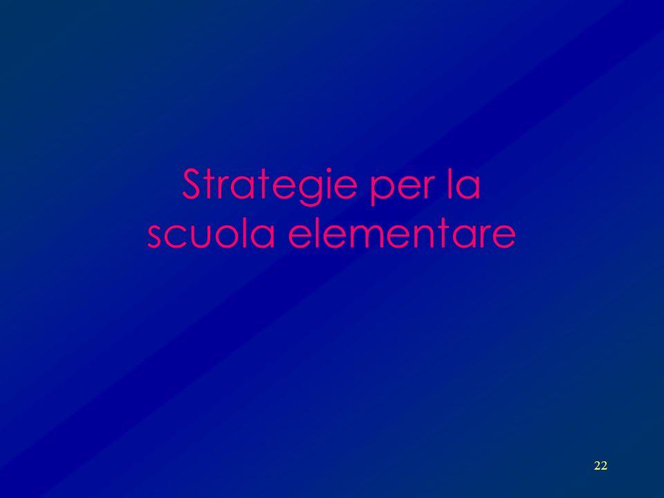 22 Strategie per la scuola elementare
