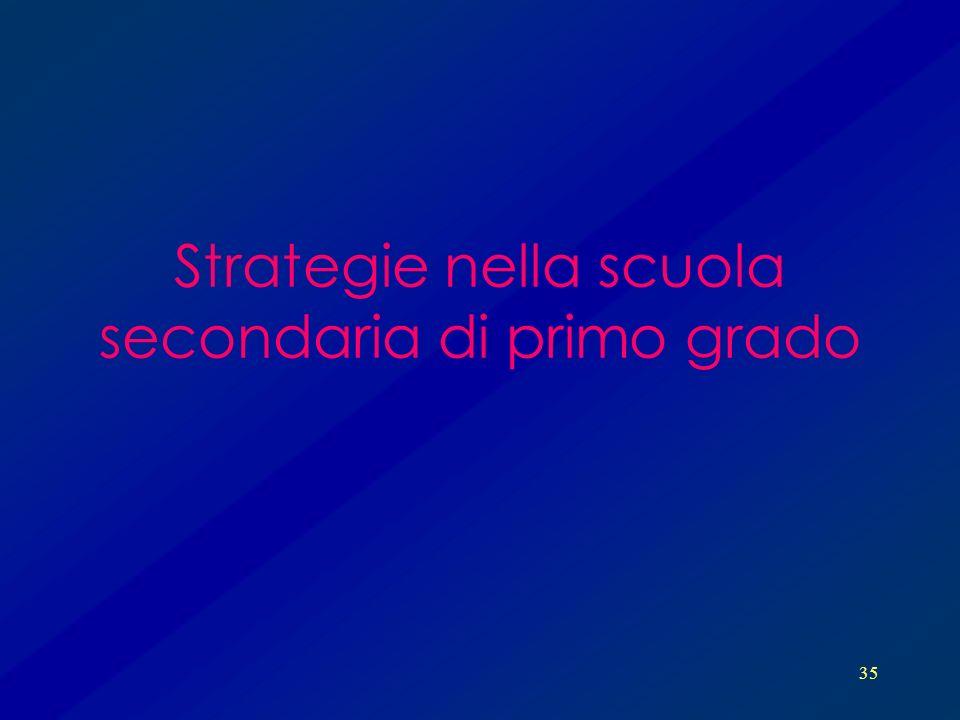 35 Strategie nella scuola secondaria di primo grado
