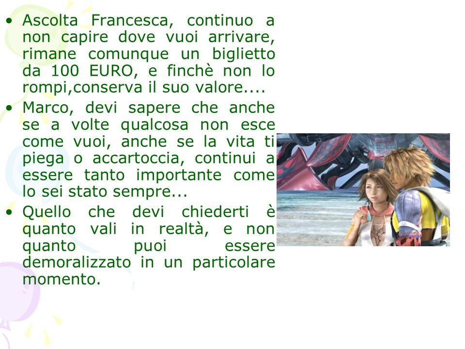 Ascolta Francesca, continuo a non capire dove vuoi arrivare, rimane comunque un biglietto da 100 EURO, e finchè non lo rompi,conserva il suo valore...