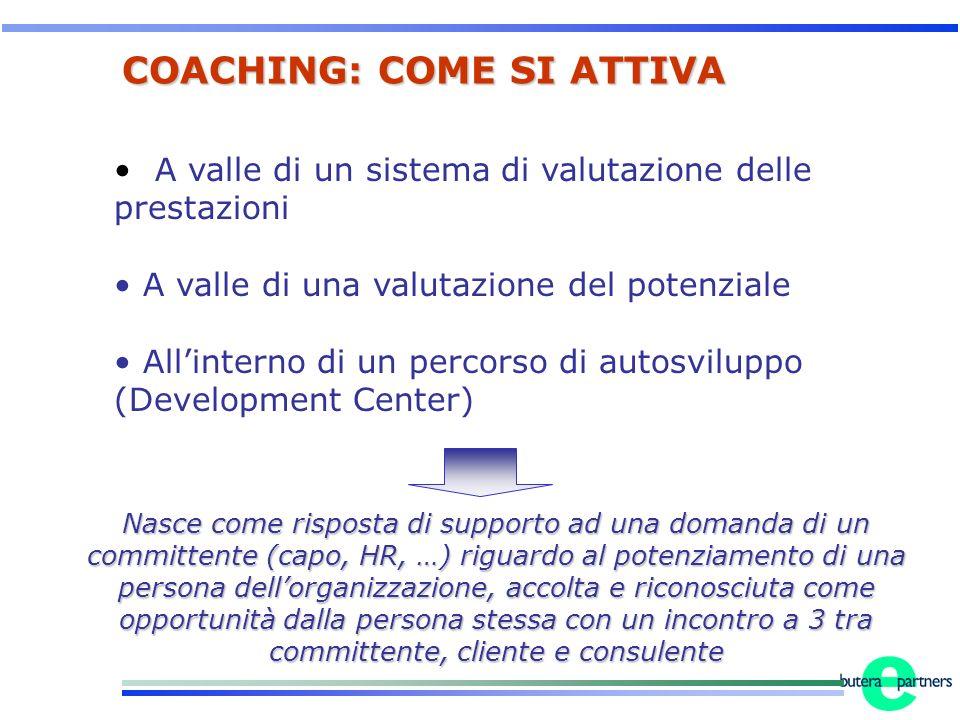 A valle di un sistema di valutazione delle prestazioni A valle di una valutazione del potenziale Allinterno di un percorso di autosviluppo (Developmen