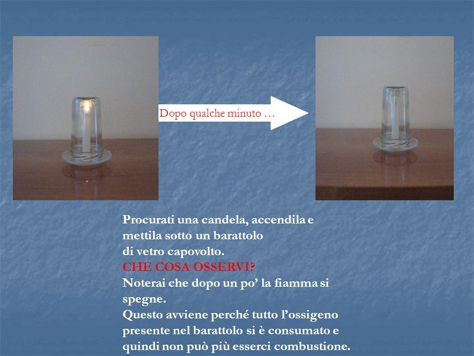 Procurati una candela, accendila e mettila sotto un barattolo di vetro capovolto.