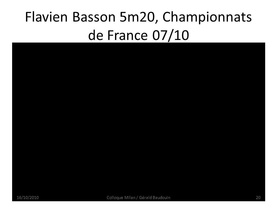 Flavien Basson 5m20, Championnats de France 07/10 16/10/201020Colloque Milan / Gérald Baudouin