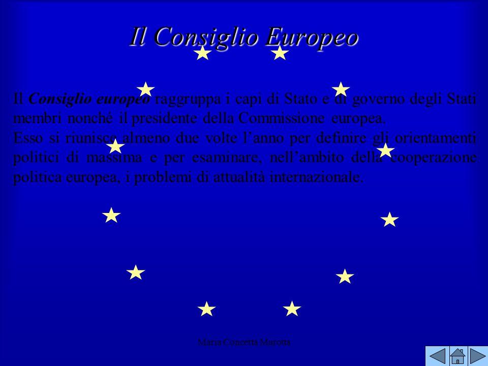Maria Concetta Marotta Il Consiglio europeo raggruppa i capi di Stato e di governo degli Stati membri nonché il presidente della Commissione europea.