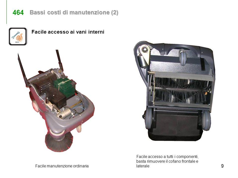 9 Facile manutenzione ordinaria Facile accesso ai vani interni Facile accesso a tutti i componenti, basta rimuovere il cofano frontale e laterale Bass