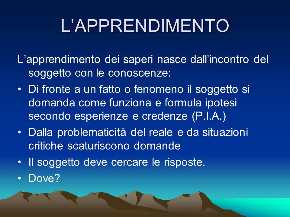 LA COSTRUZIONE DELLE CONOSCENZE SCOPRIRE LINGUAGGI ( DISCIPLINARI, TECNOLOGICI, INFORMATICI, MULTIMEDIALI) ELABORARE CONCETTI/ PRODURRE IDEE DIVERGENTI SELEZIONARE PROCEDURE/METODI CONTESTUALIZZARE ESPERIENZE / FATTI/ FENOMENI IN SFONDI INTEGRATORI CHE DIANO SIGNIFICATO E SENSO ALLE AZIONI COSTRUZIONE DELLIDENTITA/PROFILO: EDUCATIVO CULTURALE PROFESSIONALE dellallievo CERTIFICAZIONE DELLE COMPETENZE