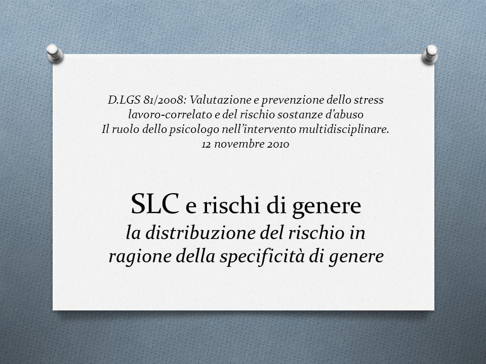 D.LGS 81/2008: Valutazione e prevenzione dello stress lavoro-correlato e del rischio sostanze dabuso Il ruolo dello psicologo nellintervento multidisc