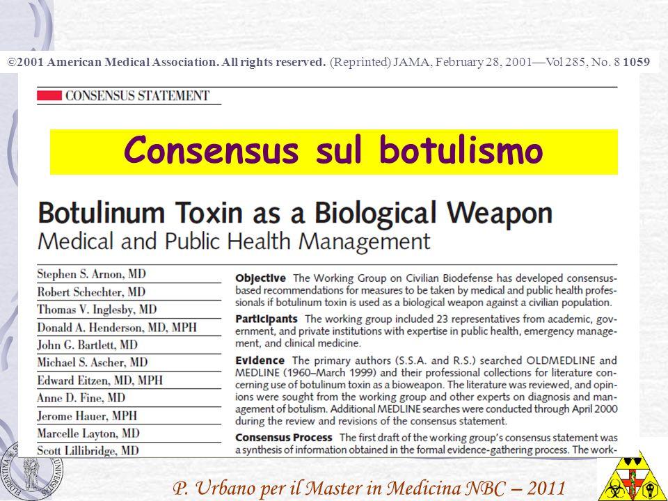 P. Urbano per il Master in Medicina NBC – 2011 ©2001 American Medical Association. All rights reserved. (Reprinted) JAMA, February 28, 2001Vol 285, No