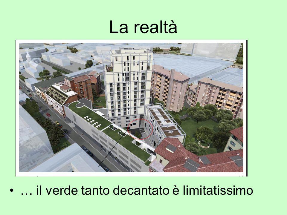 La realtà Il grattacielo è in contrasto con le case antiche a 3 e 4 piani della via