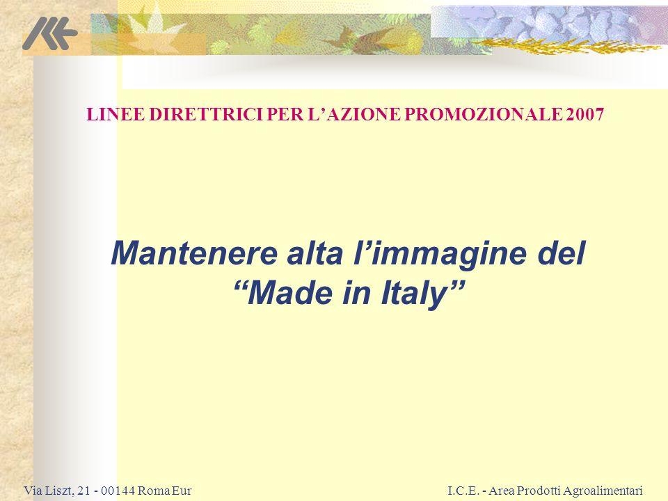Via Liszt, 21 - 00144 Roma EurI.C.E.