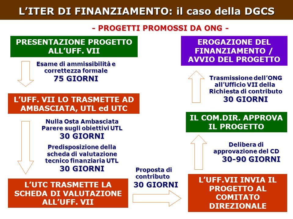 LITER DI FINANZIAMENTO: il caso della DGCS PRESENTAZIONE PROGETTO ALLUFF.