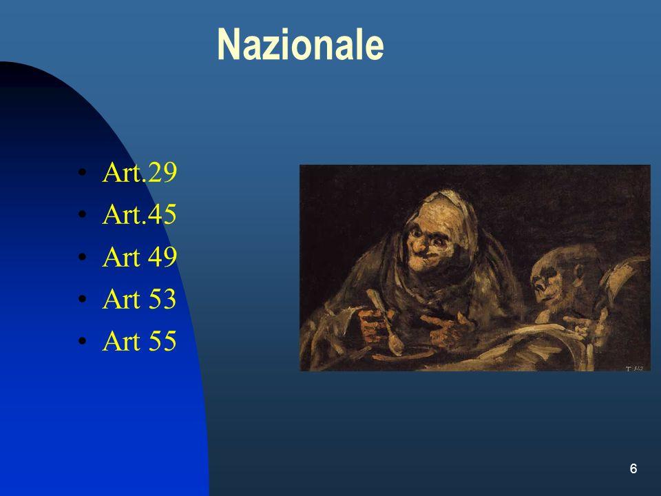 6 Nazionale Art.29 Art.45 Art 49 Art 53 Art 55