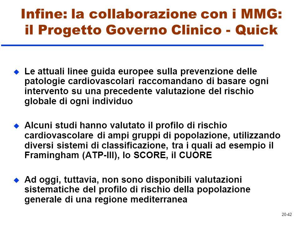 u Le attuali linee guida europee sulla prevenzione delle patologie cardiovascolari raccomandano di basare ogni intervento su una precedente valutazion
