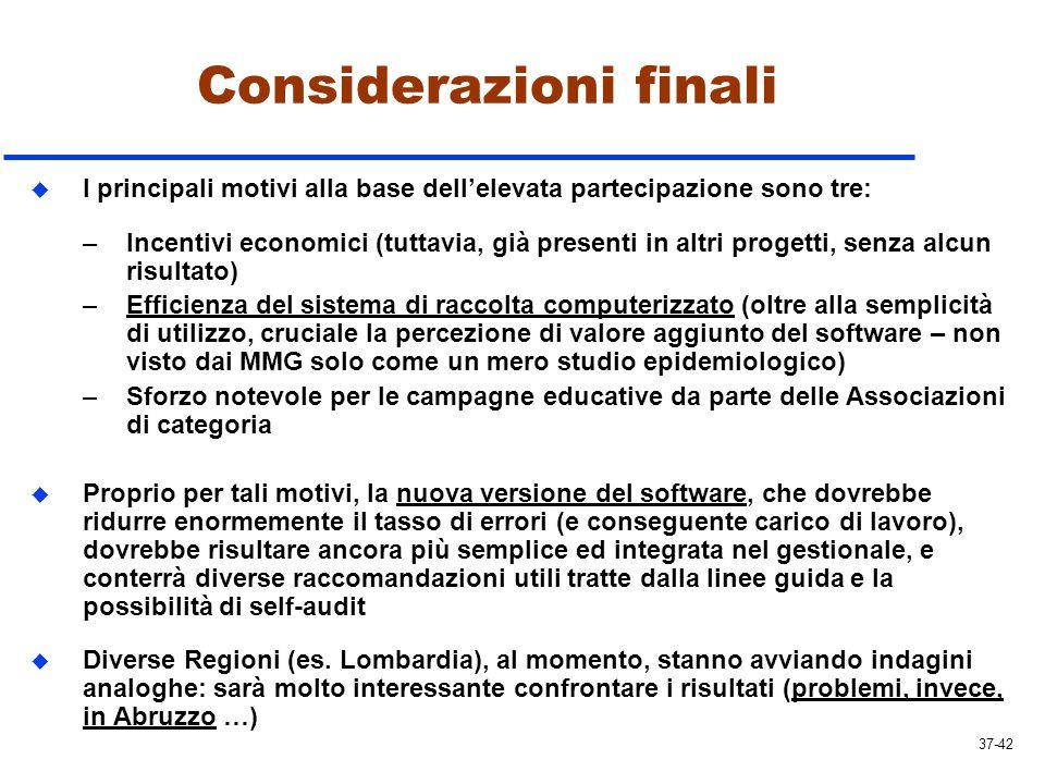 Considerazioni finali u I principali motivi alla base dellelevata partecipazione sono tre: –Incentivi economici (tuttavia, già presenti in altri proge