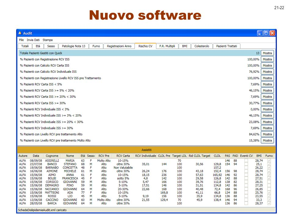 Nuovo software 21-22