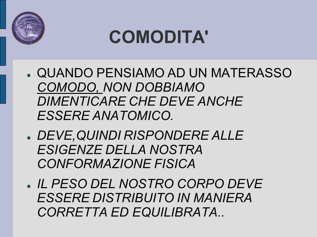 COMODITA ED ANATOMICITA