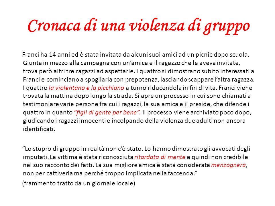 Cronaca di una violenza di gruppo Franci ha 14 anni ed è stata invitata da alcuni suoi amici ad un picnic dopo scuola. Giunta in mezzo alla campagna c