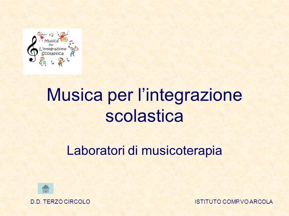 Musica per lintegrazione scolastica Laboratori di musicoterapia D.D.