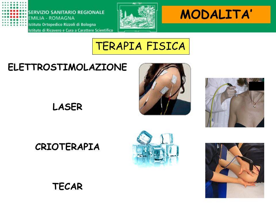 ELETTROSTIMOLAZIONE LASER CRIOTERAPIA TECAR MODALITA TERAPIA FISICA