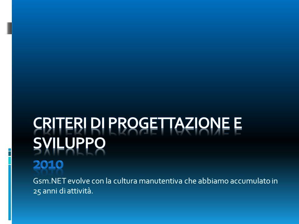 Gsm.NET evolve con la cultura manutentiva che abbiamo accumulato in 25 anni di attività.
