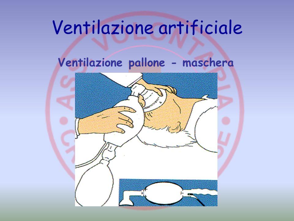 Ventilazione artificiale Ventilazione pallone - maschera