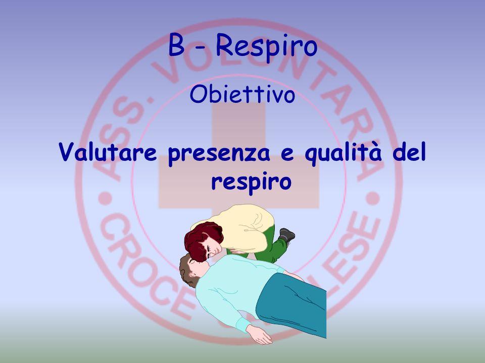 B - Respiro Obiettivo Valutare presenza e qualità del respiro