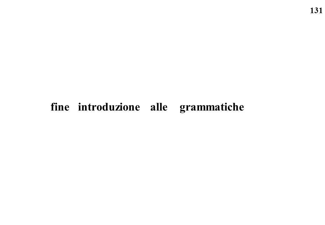 131 fine introduzione alle grammatiche