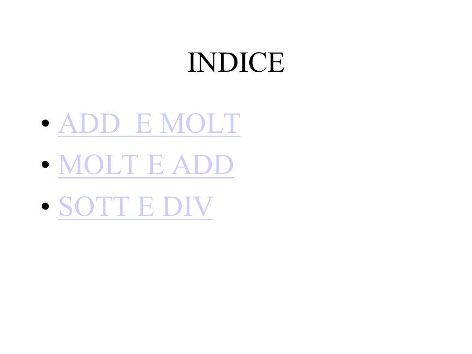 INDICE ADD E MOLT MOLT E ADD SOTT E DIV