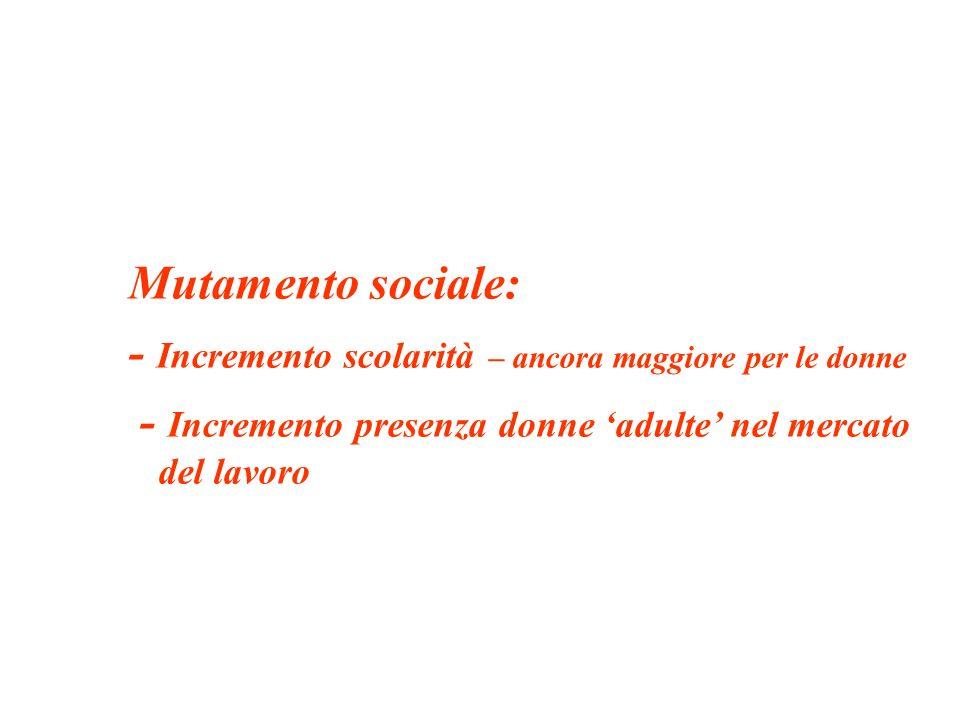 DUNQUE la relazione tra lavoro delle donne e natalità da negativa : è diventatapositiva, da tempo, a livello europeo tende a diventare positiva anche in Italia
