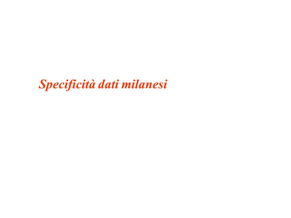 Specificità dati milanesi