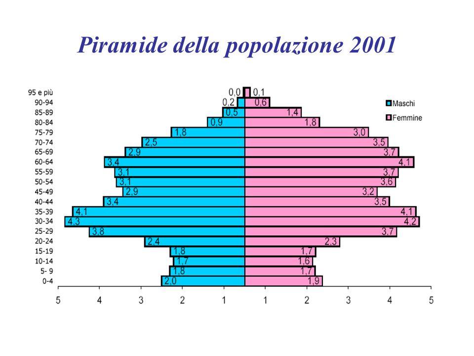 Piramide della popolazione 2001