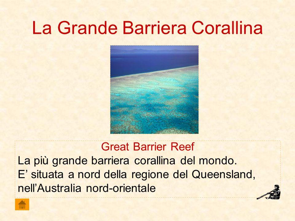 La Grande Barriera Corallina Great Barrier Reef La più grande barriera corallina del mondo. E situata a nord della regione del Queensland, nellAustral