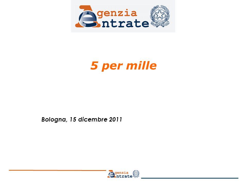 5 per mille Bologna, 15 dicembre 2011