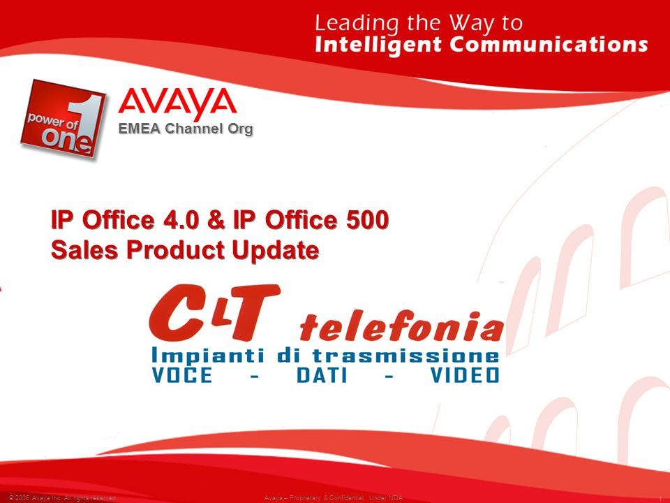 2 © 2007 Avaya Inc.All rights reserved. 2 © 2006 Avaya Inc.
