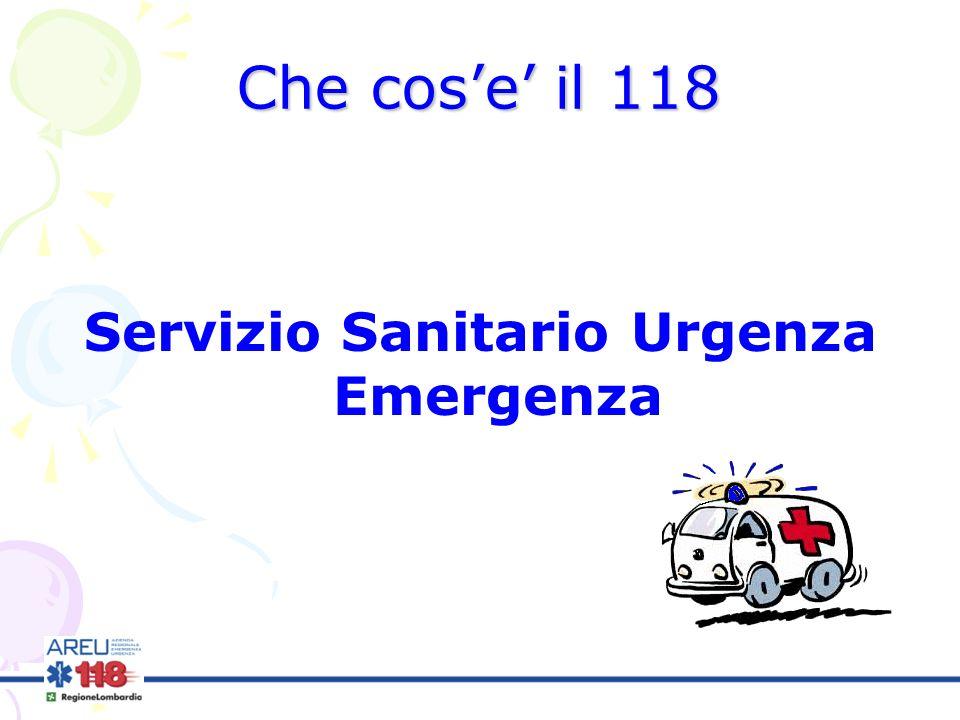 Che cose il 118 Servizio Sanitario Urgenza Emergenza