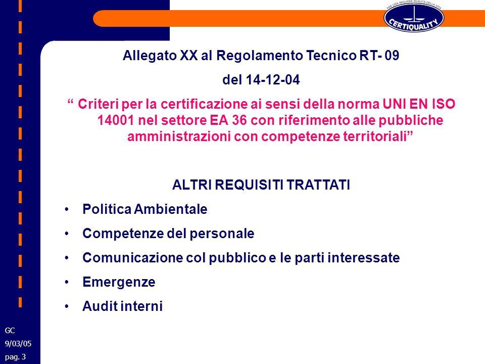 TIPOLOGIE ATTIVITA E ASPETTI AMBIENTALI Competenze Assegnate per legge Variabili in funzione del tipo di P.A.
