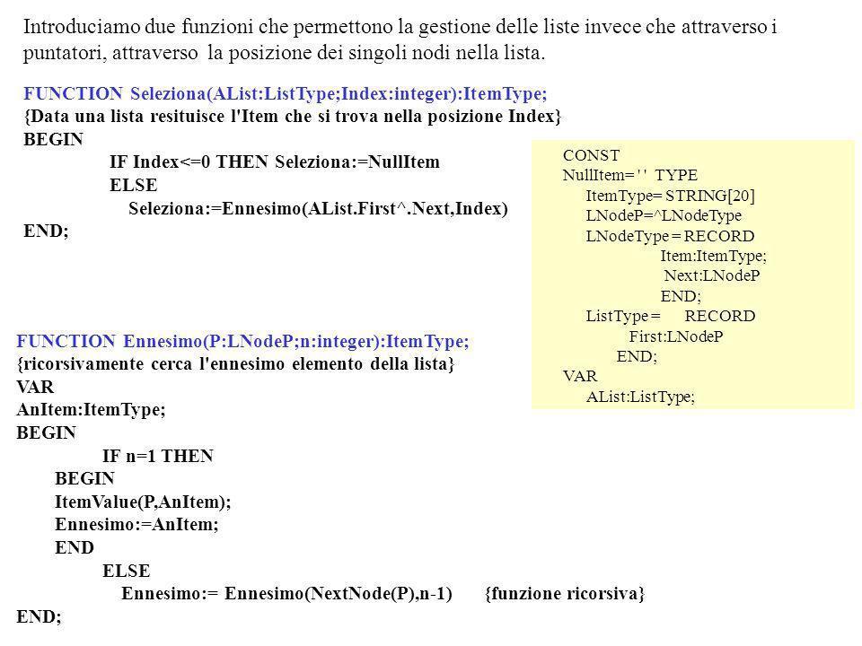 Introduciamo una funzione che permette la ricerca del puntatore che precede un preassegnato puntatore.