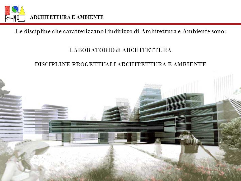 Le discipline che caratterizzano lindirizzo di Architettura e Ambiente sono: LABORATORIO di ARCHITETTURA DISCIPLINE PROGETTUALI ARCHITETTURA E AMBIENT