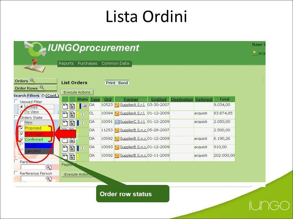 Update ERP Update for the Supplier (new rev. ) Aggiornamento dati in IUNGO (Vista del Buyer - Conferma)