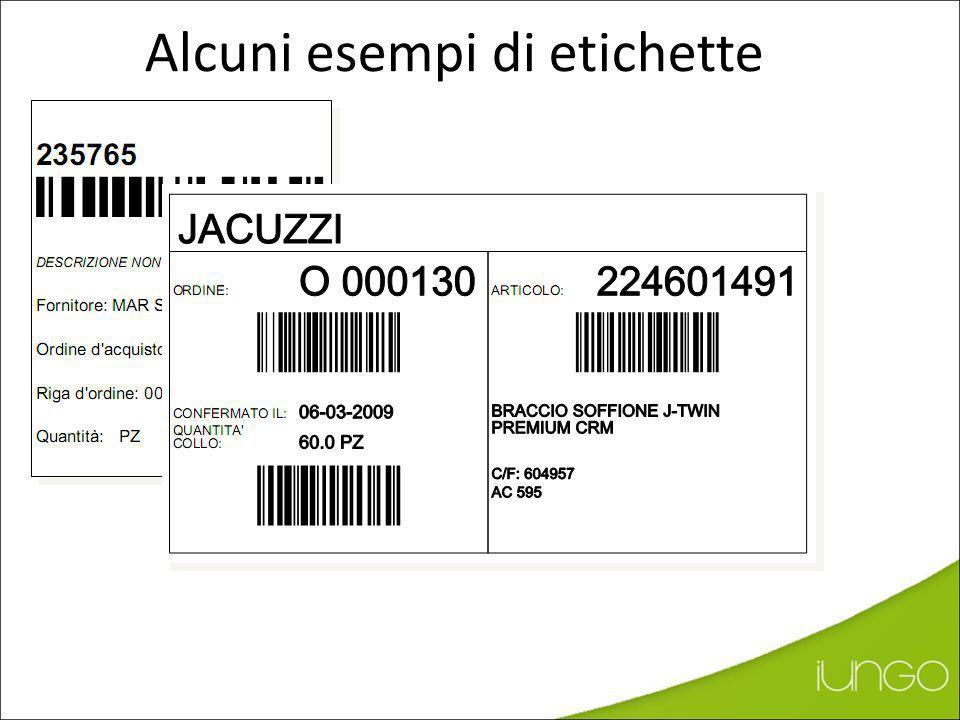 Alcuni esempi di etichette