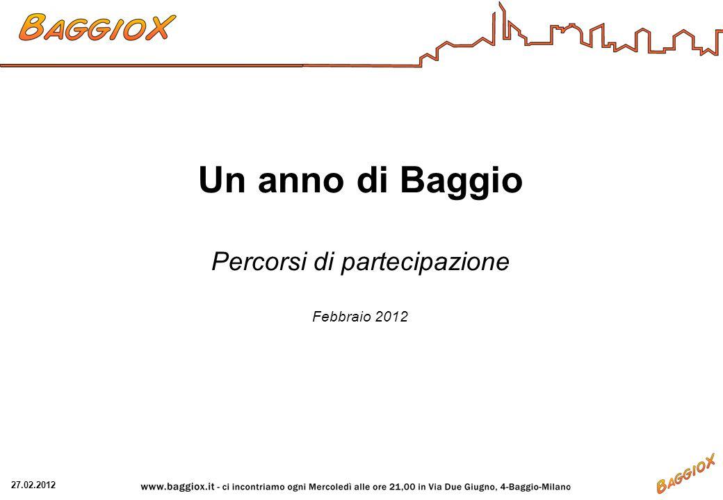 Un anno di Baggio Percorsi di partecipazione Febbraio 2012 27.02.2012