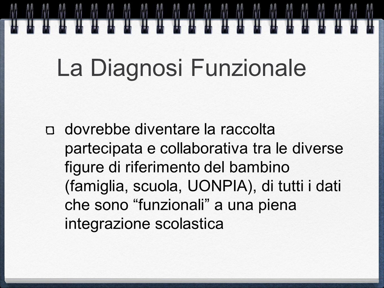 La Diagnosi Funzionale dovrebbe diventare la raccolta partecipata e collaborativa tra le diverse figure di riferimento del bambino (famiglia, scuola,