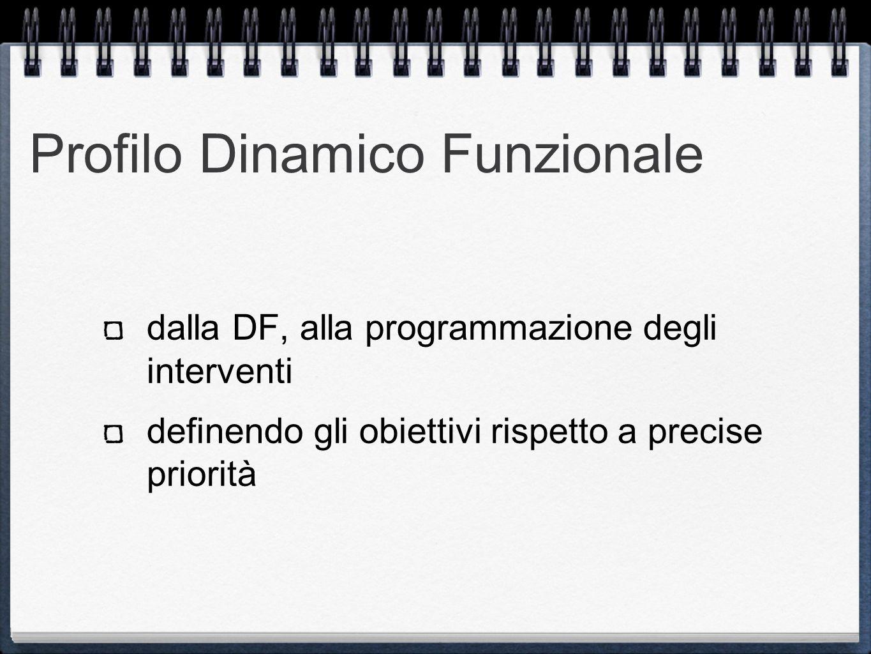 Profilo Dinamico Funzionale dalla DF, alla programmazione degli interventi definendo gli obiettivi rispetto a precise priorità