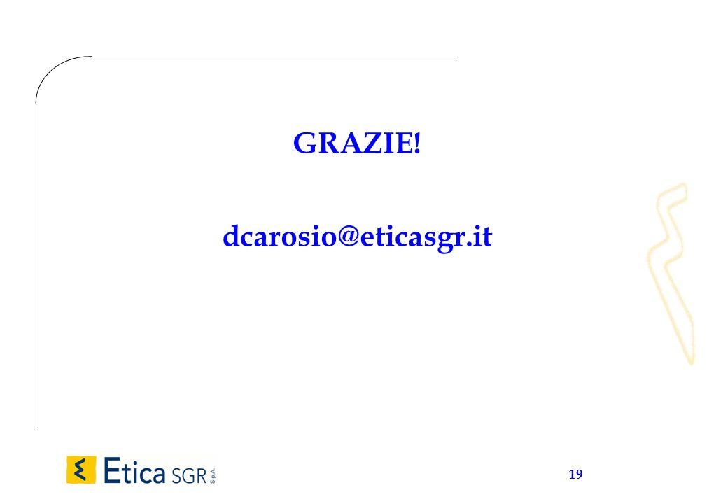 19 GRAZIE! dcarosio@eticasgr.it
