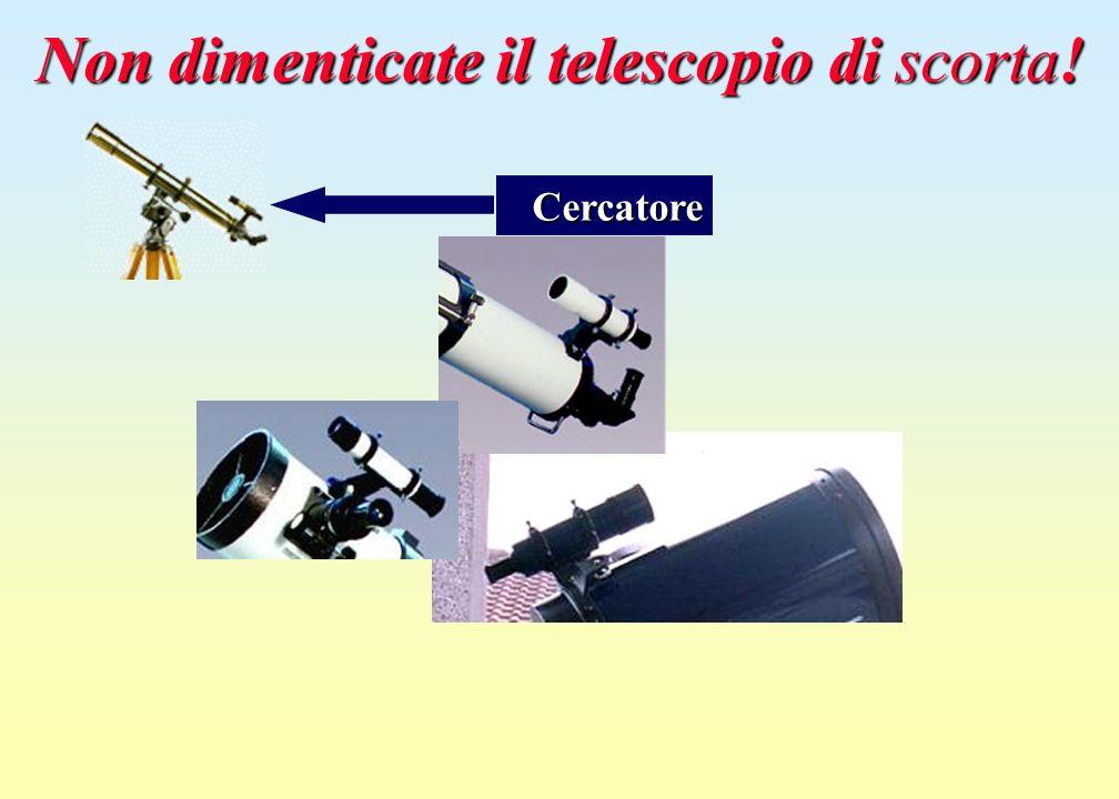 Non dimenticate il telescopio di scorta! Cercatore