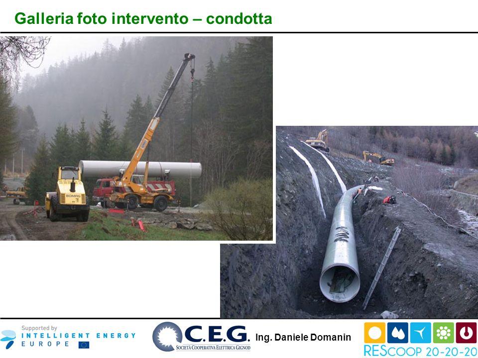 Ing. Daniele Domanin Galleria foto intervento – condotta